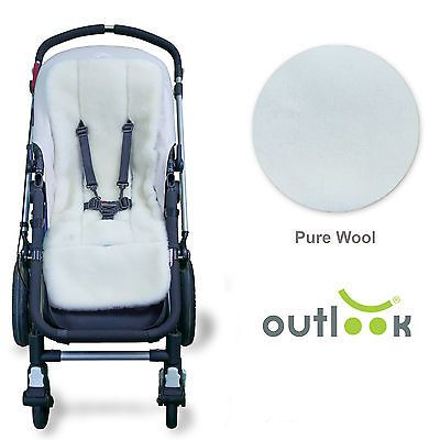 Universal Pure Australian Wool Outlook Pram Liner Super Soft Reversible