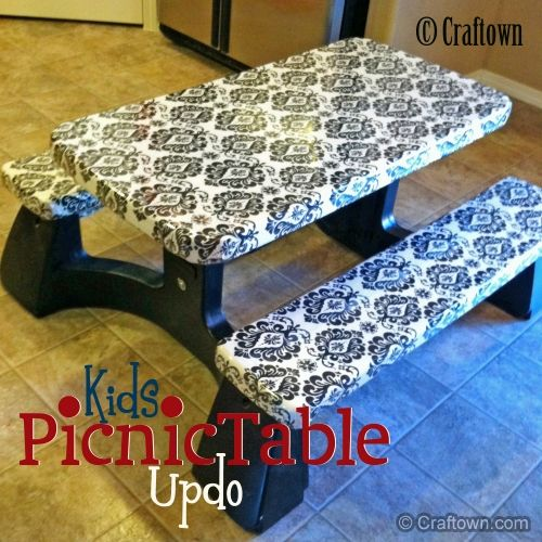 Free Upcycle Craft - Kids Picnic Table Updo: Update your old standard kids picnic table into something cute!