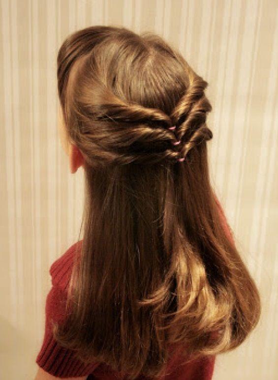 peinados faciles para ninas con pelo largo