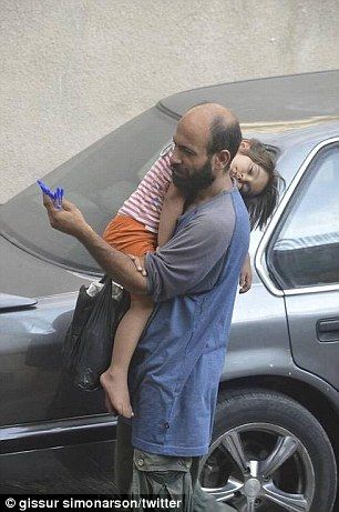 Gissur Simonarson, founder of Conflict News, posted the pictures on Tuesday and was flooded with requests to help the man, a Palestinian from the devastated Yarmouk refugee camp 2015 August