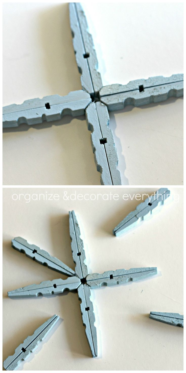 Snowflake ornaments crafts - Find This Pin And More On Christmas Craft Ideas Clothespin Snowflake Ornaments