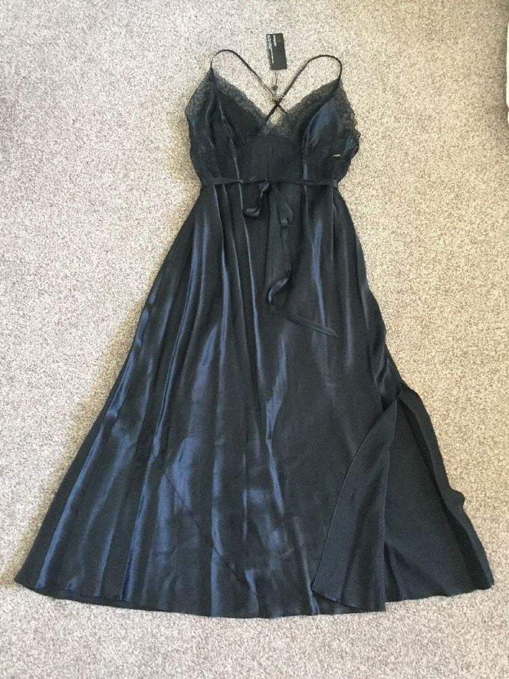 M&S ROSIE FOR AUTOGRAPH 100%SILK FULL LENGTH Ladies Nightdress UK16 EU44 BNWT Bl
