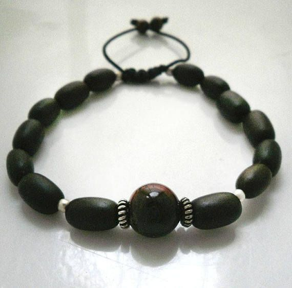 Mens beaded braceletRed Tiger Eye mens braceletMala