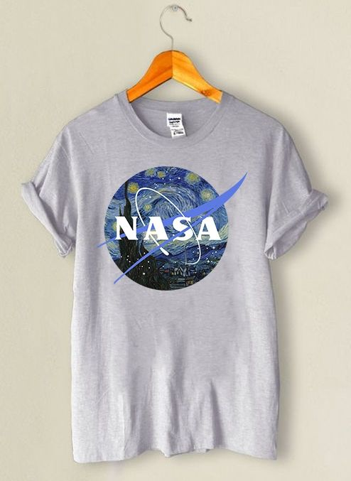 b5054e6c5 Camiseta NASA  Starry Night by Van Gogh