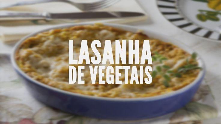 Lasanha de vegetais | Receitas Saudáveis - Lucilia Diniz