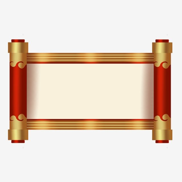 Chinese Style Roll Up Scroll Hand Painted Commercial Elements Chinese Style Scroll Reel Rolled Up Scroll Png Transparent Clipart Image And Psd File For Free Poster Background Design Frame Border