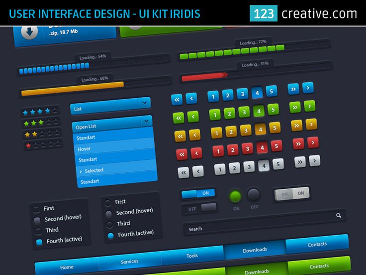 User interface design - UI Kit Iridis