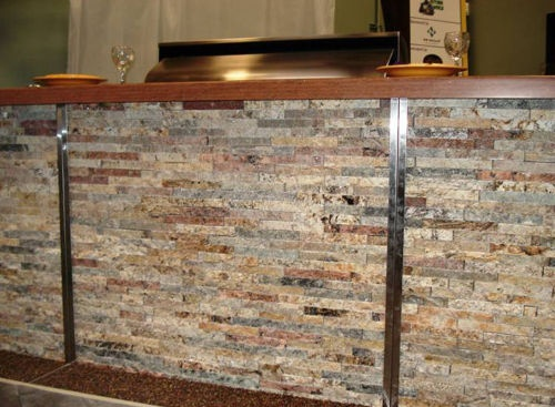 Split Face Stone Tile Veneer   Solid Mosaic Stone With Sparkling Quartz And  Mica