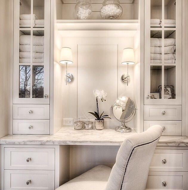 2276 best bathroom vanities images on pinterest bathroom for Bathroom designs with dressing area