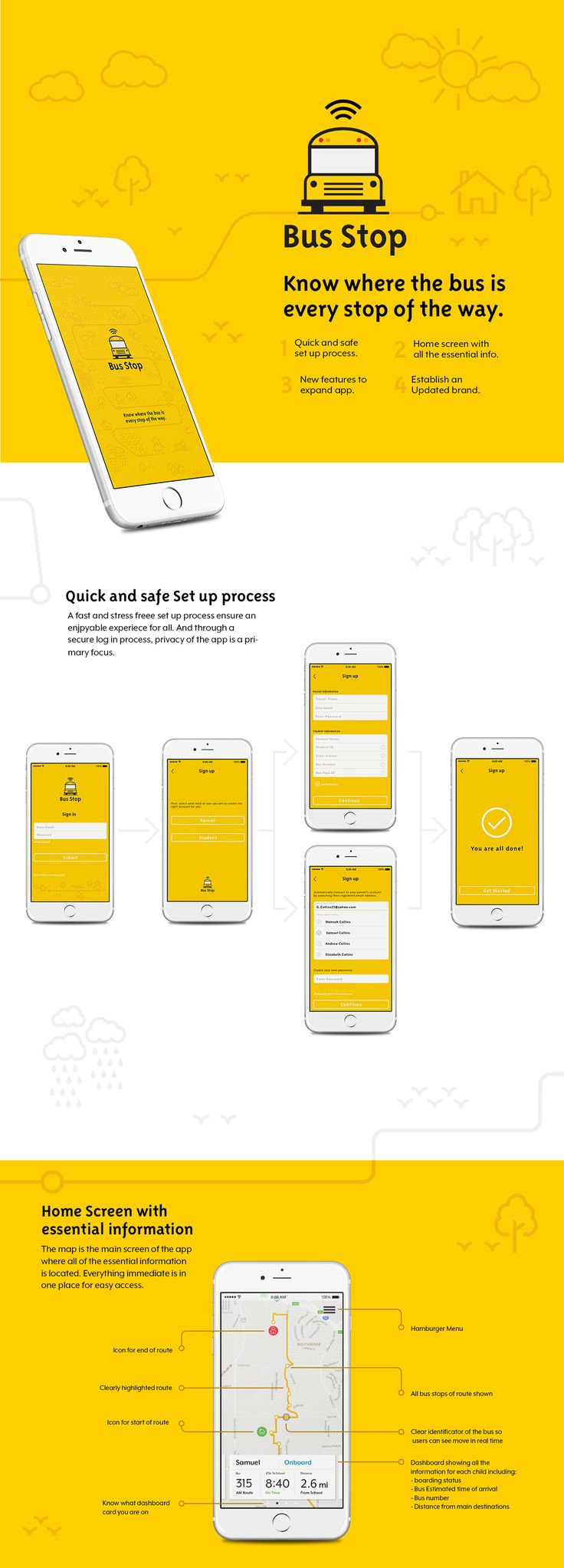 Bus Stop: A redesign of the Here Comes the Bus app on Behance