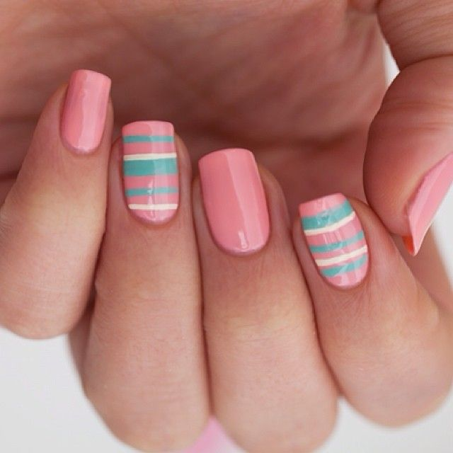 Pink, stripes nails Nail Art. Nail Design. Polishes. Polish, Romantic. - Best 20+ Striped Nail Art Ideas On Pinterest—no Signup Required