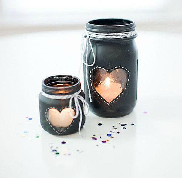 mason jar crafts | Chalkboard Paint Votives | Mason Jar Crafts Love