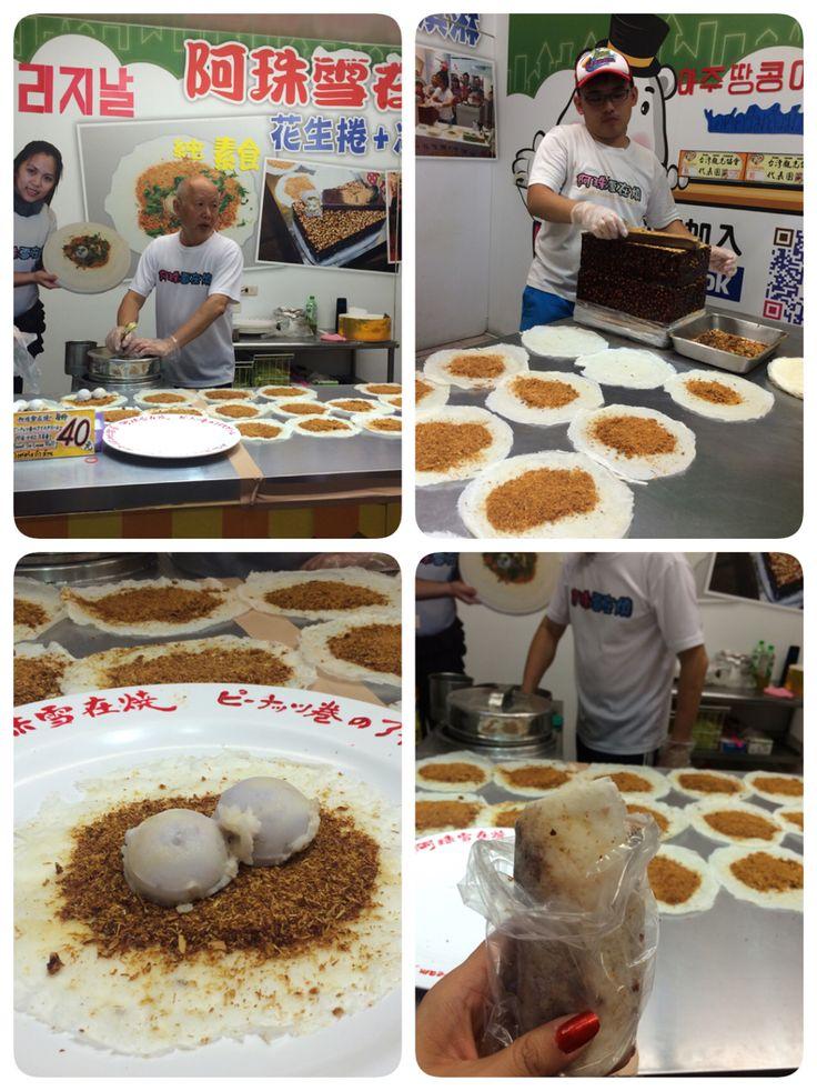 Peanut Brittle Taro Ice Cream Cilantro Poh Piah Wrap