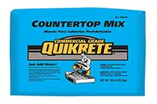Concrete Vases Supplies - Commercial Grade Quikrete Countertop Mix. I prefer the Commercial Grade Quikrete Countertop Mix for these type of projects but Quikrete 5000 will work just fine as well.
