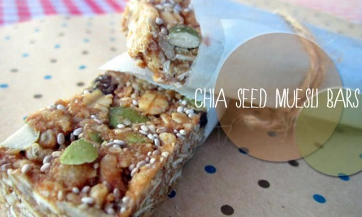 These chia seed muesli bars are great for the kids to take to school for recess and you won't believe how easy they are to make. You will never buy muesli bars again and best of all, they are nut free.