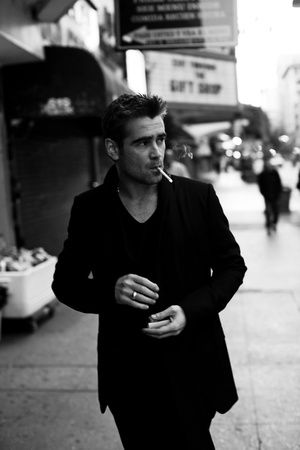 smoking hot on the street, Colin Farrell by Michael Muller