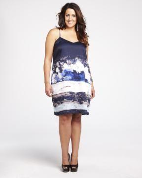 dkny printed dress   Shop Online at Addition Elle #AdditionElleOntheRoad