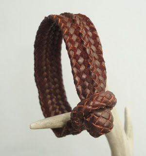 Pete Leather: Hand crafted unique bracelet. Leather Braided Jewe...