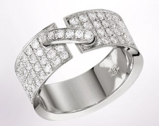 Chaumet-Liens-web-Apr.2013,Liens de Chaumet ring in 18-carat rhodium-plated white gold, full diamond paved, small model