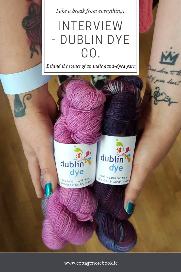 I love sharing Indie Dyers on the blog and this week I am catching up with Yvonne from the Dublin Dye Company. You have heard me mention one or two things about her over on the podcast but today let's hear more from the lady behind those skeins: