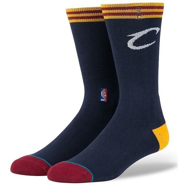 Stance Cleveland Cavaliers Socks - Blue Large ($13) ❤ liked on Polyvore featuring men's fashion, men's clothing, men's socks, blue, stance mens socks, mens blue socks and men's mid calf socks