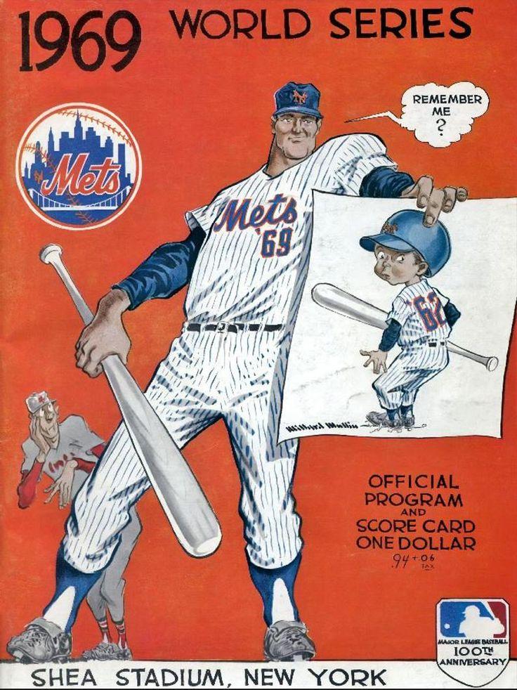 """NEW YORK METS 1969 print """"Miracle Mets"""" Vintage Baseball"""