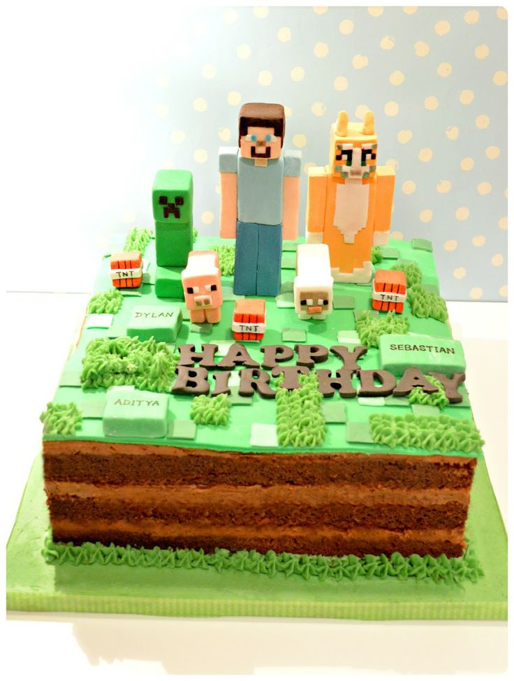 141 best images about cakes minecraft on cake ideas birthday cakes and pig cakes