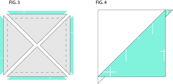 HST Half Square Triangle Quilt Block Tutorial Method II Step 2- Makes 4 at one time! Coral + Co.