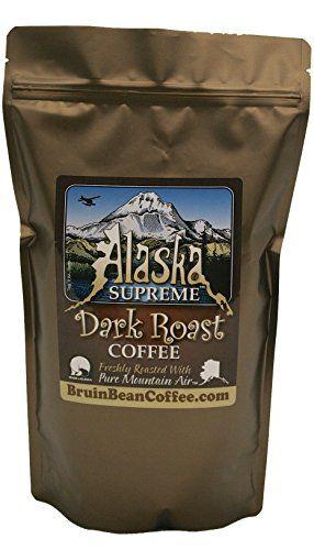 Alaska Supreme Coffee TM, WHOLE BEAN, Freshly Roasted in Alaska with Pure Mountain Air TM - Specialty, Rich, Dark Blend