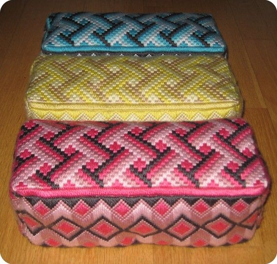 Bargello Needlepoint Door Stop Brick or Bookend or Hand Embroidered Pillow via Etsy