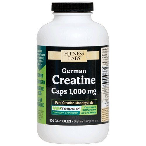 Fitness Labs Creapure German Creatine 1000 Mg 300 Capsules ** Read more reviews of the product by visiting the link on the image.  This link participates in Amazon Service LLC Associates Program, a program designed to let participant earn advertising fees by advertising and linking to Amazon.com.