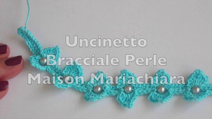 Uncinetto | Braccialetto Perle | Cavigliera Collana | Crochet Bracelet  | Barefoot | Necklac