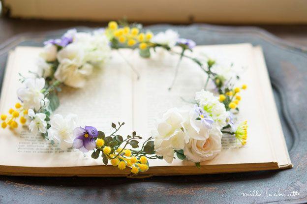 ビオラミモザナチュラル花冠