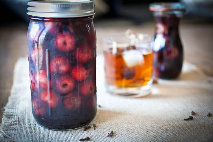 Juicy summer cherries preserved in a brandy syrup with a hint of cinnamon.