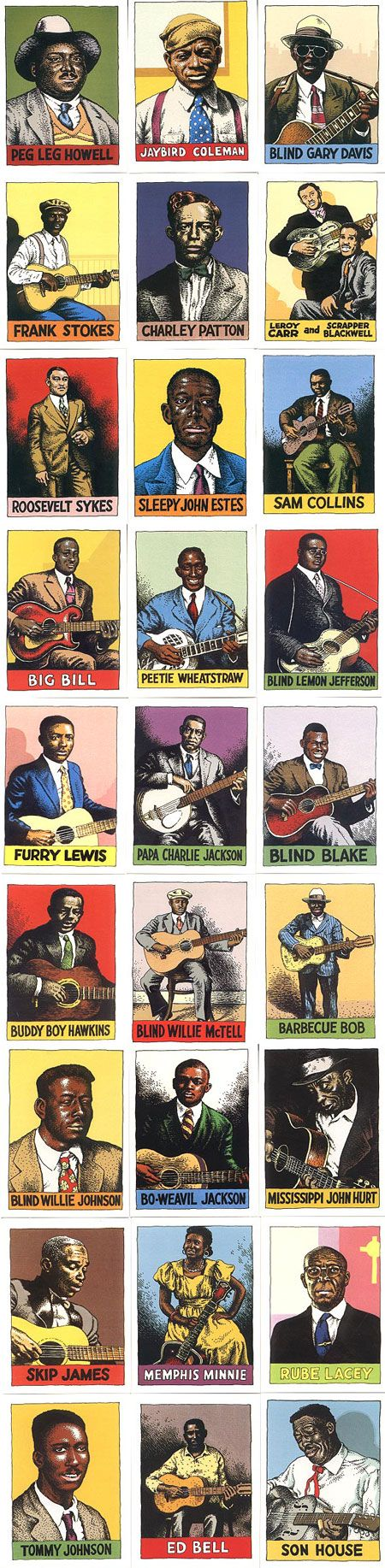 "Robert Crumb, ""Blues"". Veja também: the blues had a baby and they named it rock…"