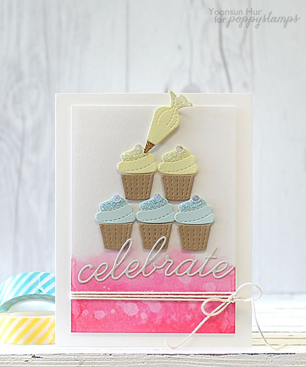 Glitter Frosting Cupcakes  by Yoonsun Hur by the Poppystamps Design Team