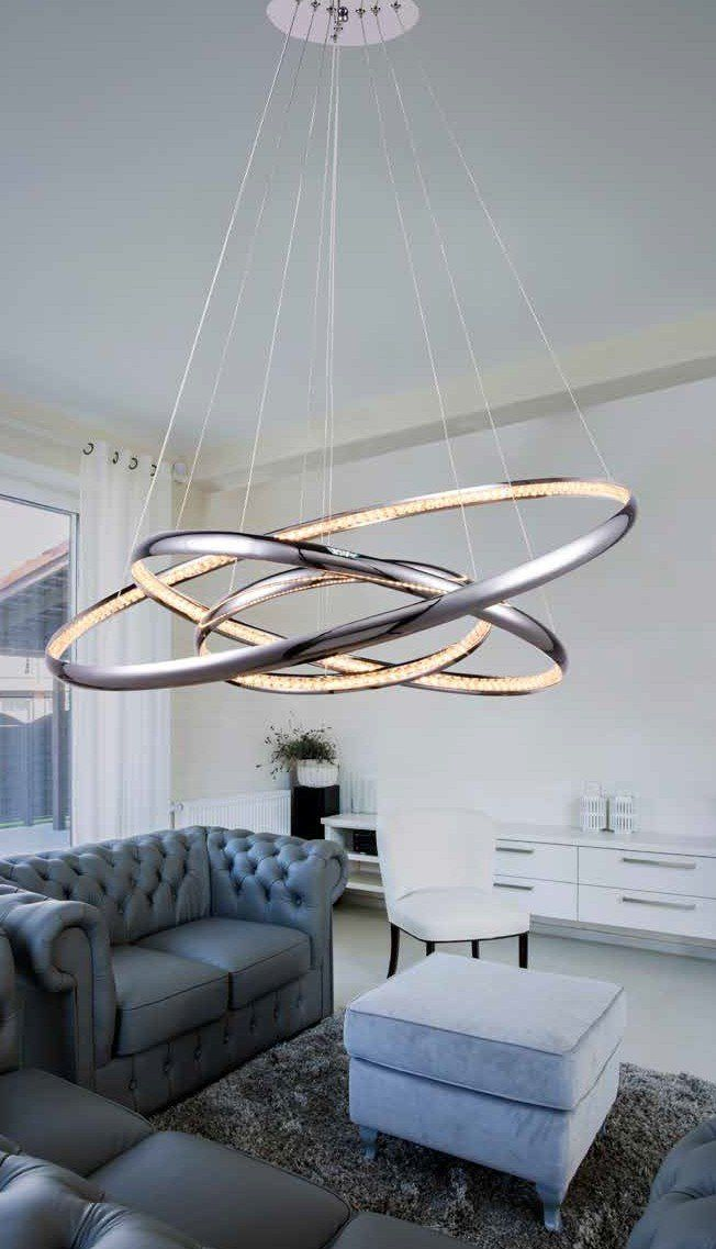 Azzardo Lampa wisząca LED Brighton 3 - MP57043-3 CH : Sklep internetowy Elektromag Lighting #modern #lighting #oświetlenie #homedesign #interiors #livingroom