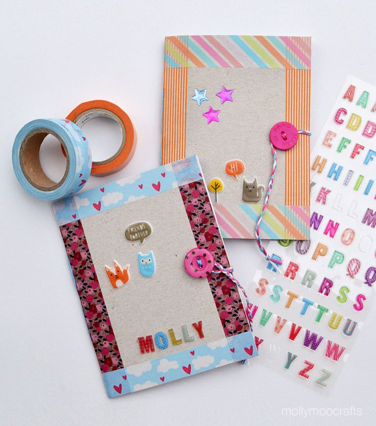 How To Make Cereal Box Notebooks | MollyMooCrafts.com