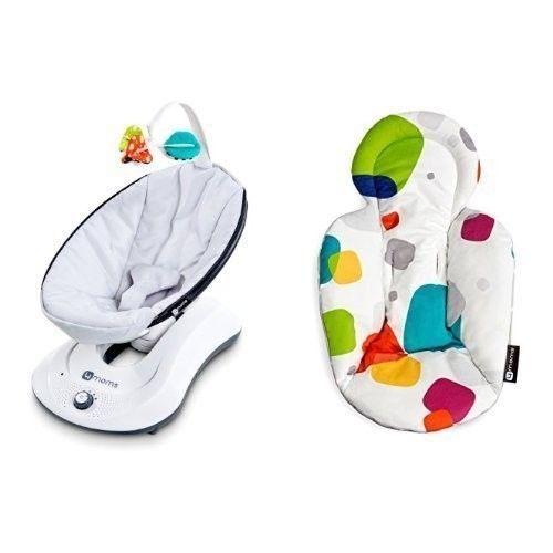 baby glider swing infant front to back motion with bonus polka dot plush insert