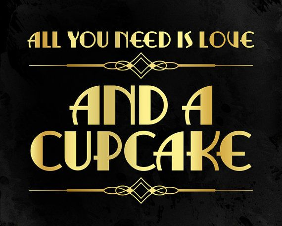 All you need is love and a cupcake wedding decor. von PartyGraphix