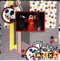 scrapbook layouts disney castle - Google Search