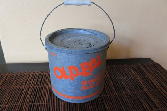 Old Pal Minnow Bucket by ZuziDesign on Etsy, $25.00
