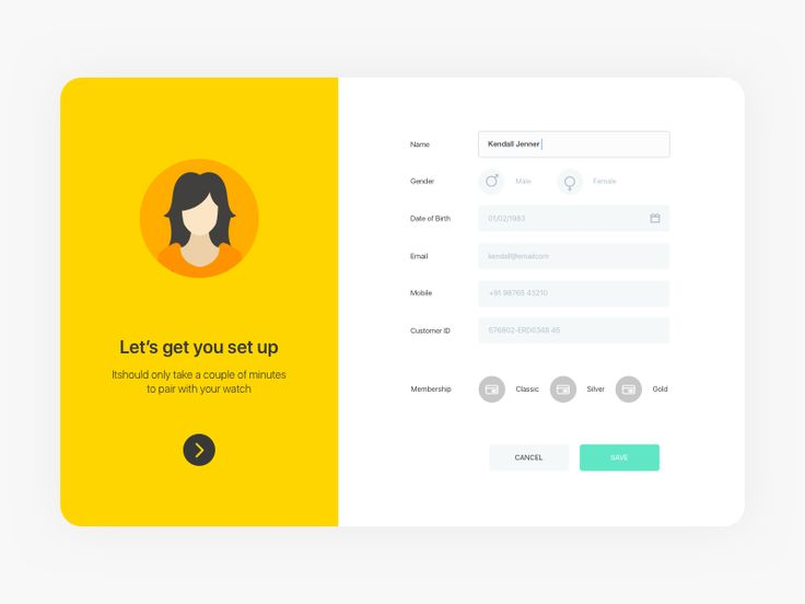 A form UI with a nice overall design and color scheme. It was very generous of…