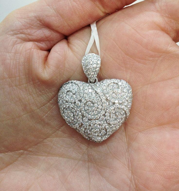Diamond Heart Pendant by Kalfin Jewellery #diamonds #heart #pendant #jewellery #custommade #handmadejewellery #love #diamondrings #engagementrings #diamond #kalfinjewellery #style #design #detail #love #fashion #cool #happy #followme #picoftheday #bestphoto #amazing #fashion #bloggers #style #wedding #present #giftidea #bride #diamondheart #cbdjewellers #Melbourne #collinsst #city #couture #luxury