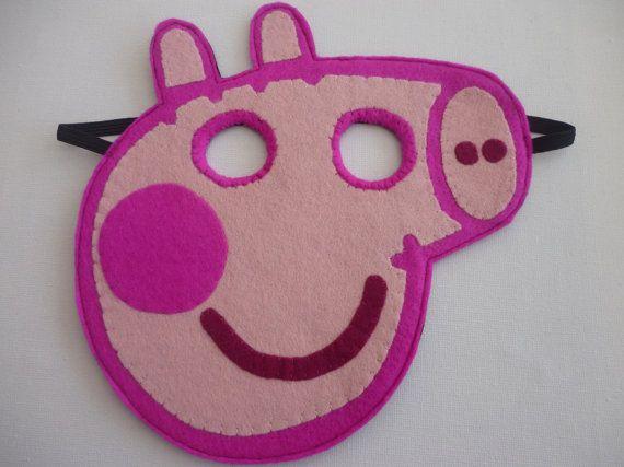 Felt Peppa Pig mask/toy/dress up/costume for children via Etsy