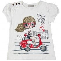 "CAMISETA DE PUNTO LISO ""SUN AND GLAMOUR"""