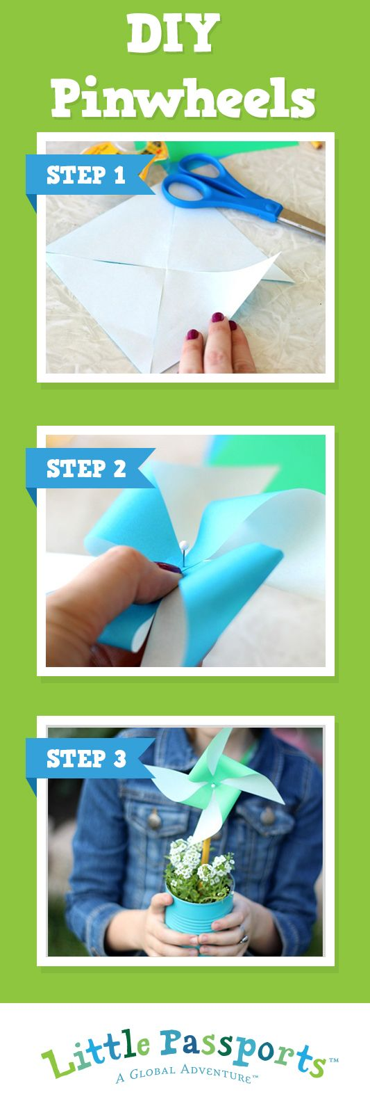 Earth Day is just around the corner! This year, teach the kids about wind power with these colorful pinwheels. They come together fast and spin in the wind even faster! Visit our blog to learn more.