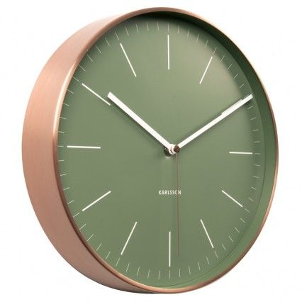 Karlsson Minimal Copper Clock - Green - classic wall clock