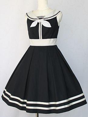 Victorian maiden   French Marine Ribbon Line Dress