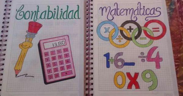Carátula cuaderno                                                                                                                                  … | Pinterest